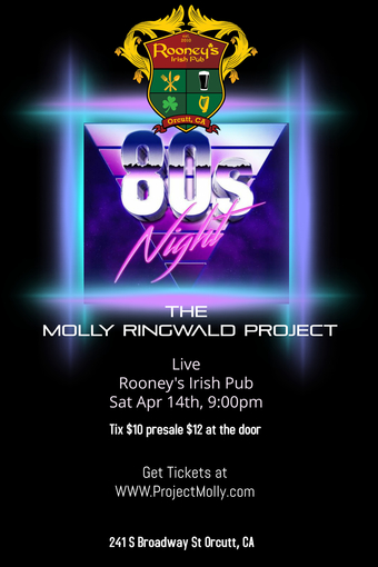 The MOLLY RINGWALD PROJECT at Rooney's Irish pub