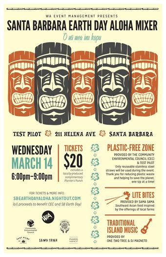 Santa Barbara Earth Day Aloha Mixer