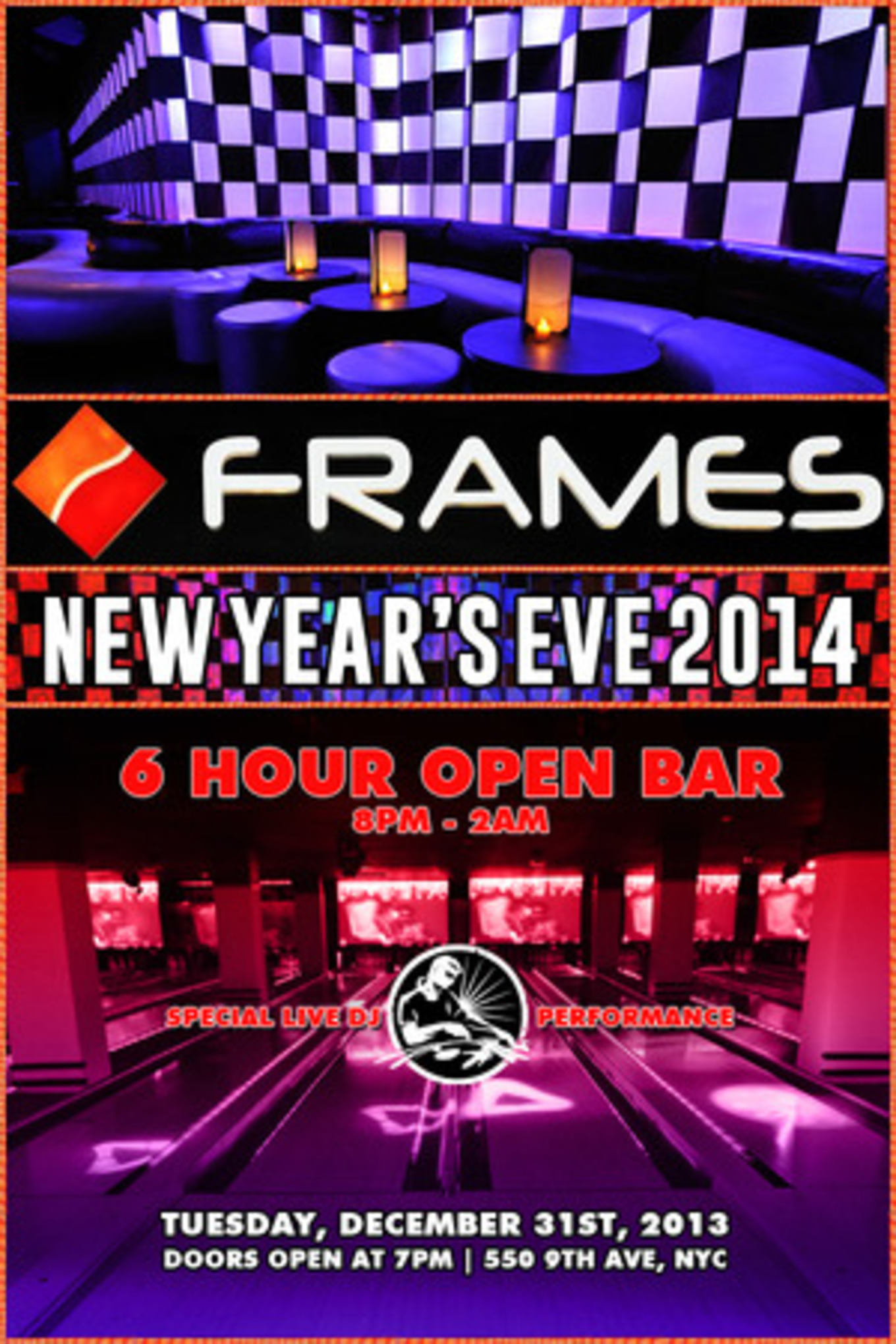 Frames Bowling Lounge New Years Eve 2014 - Frames Bowling Lounge ...