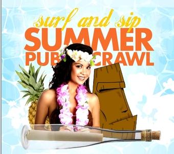 Annual Surf & Sip Luau Pub Crawl