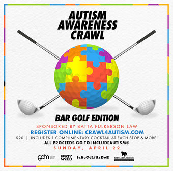 Autism Awareness Bar Crawl: Golf Edition