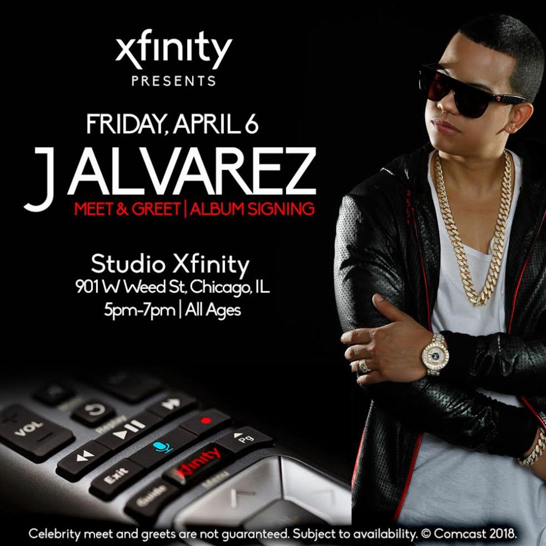 J alvarez meet greet tickets studio xfinity chicago il j alvarez meet greet m4hsunfo