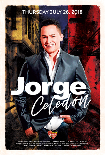 Conga Room presents Jorge Celedon