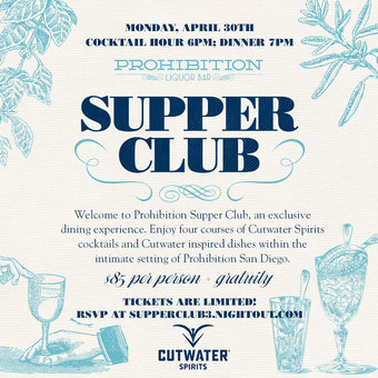 Prohibition Supper Club - Cutwater