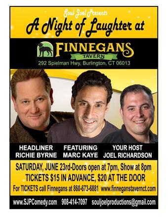 Burlington, CT:  Comedy Night at Finnegan's