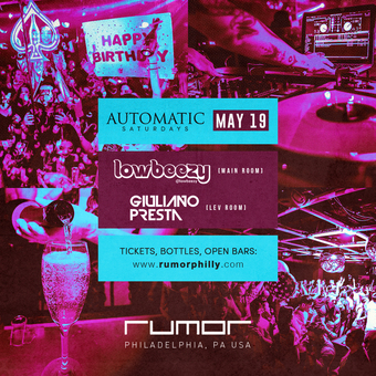 Automatic Saturdays w. Lowbudget & Giuliano Presta