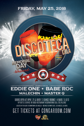 Conga Room presents Discoteca DTLA
