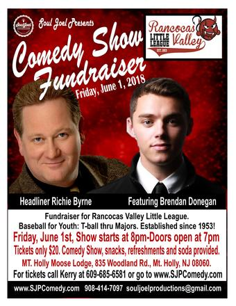 Mount Holly: Rancocas Valley Little League Comedy Fundraiser
