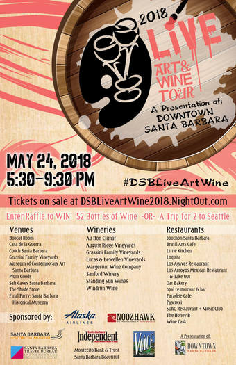 2018 Downtown LIVE Art & Wine Tour