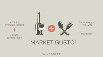 Gusto at Wine +Beer! May 31st