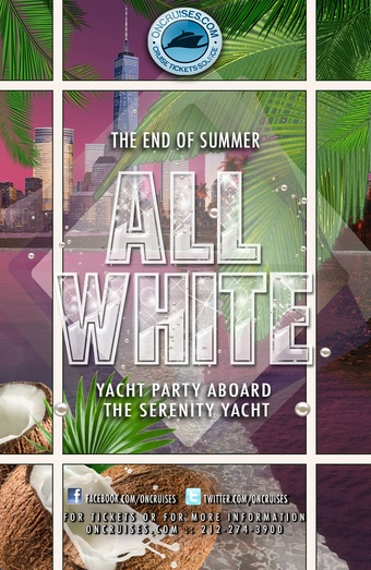 The End of Summer All White Yacht Party Aboard the Serenity Yacht