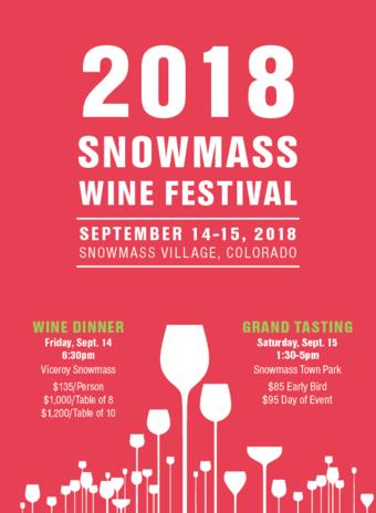 SNOWMASS WINE FESTIVAL 2018