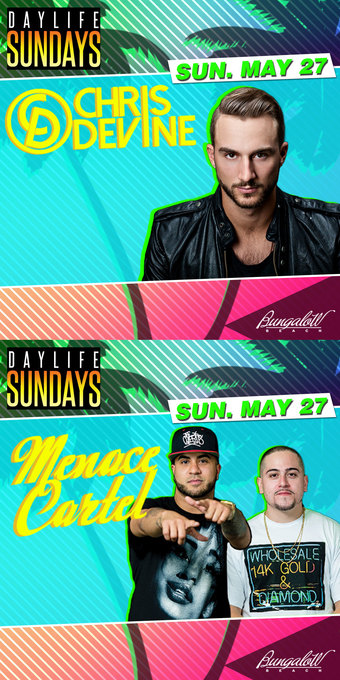 MDW 18 with DJ Chris Devine and Menace Cartel at Bungalow Beach