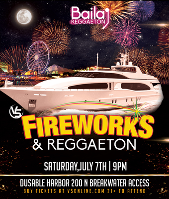 Reggaeton firework night cruise