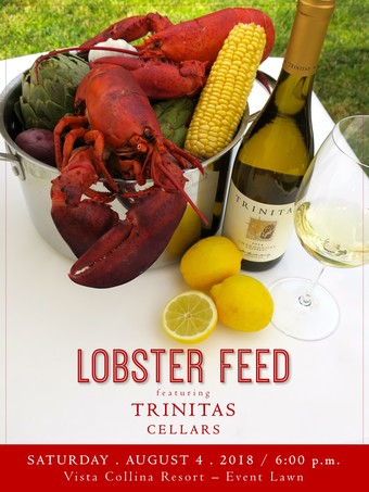 Lobster Feed Featuring Trinitas Cellars