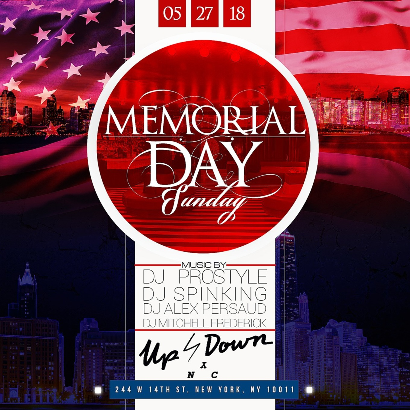 memorial day sunday dj prostyle live at up down tickets rh nightout com