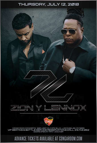 Conga Room presents Zion y Lennox