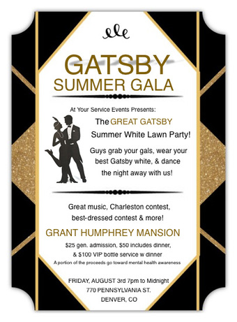 The Great Gatsby Summer White Lawn Party!