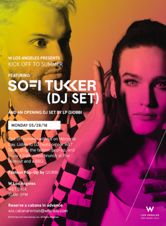 Memorial Day Pool Party at W Los Angeles West Beverly Hills ft. SOFI TUKKER