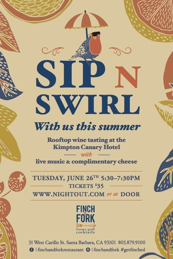 June  Sip N' Swirl on the Rooftop at Canary!