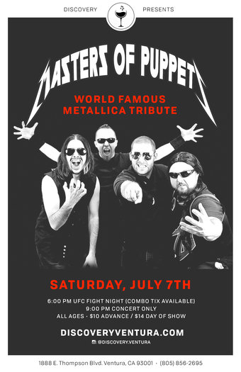 Masters of Puppets - Tribute to Metallica at Discovery Ventura