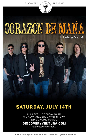 Corazon De Mana - Tribute to Mana at Discovery Ventura