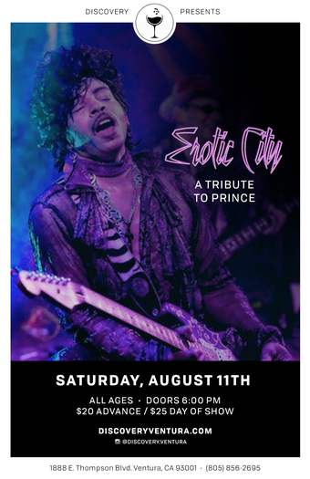 Erotic City - Tribute to Prince at Discovery Ventura