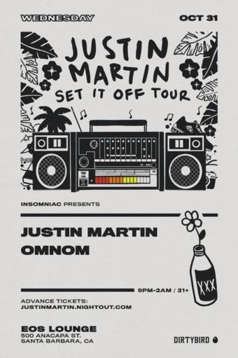 Justin Martin (Dirtybird) on Halloween at EOS Lounge 10.31.18