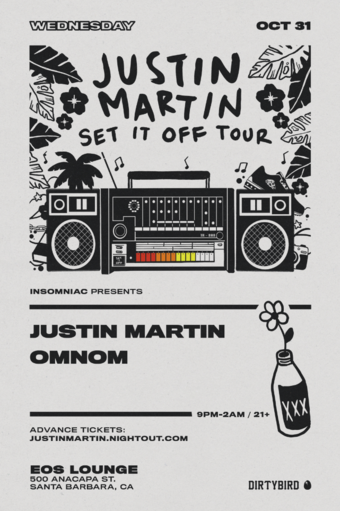 Justin Martin (Dirtybird) on Halloween Santa Barbara