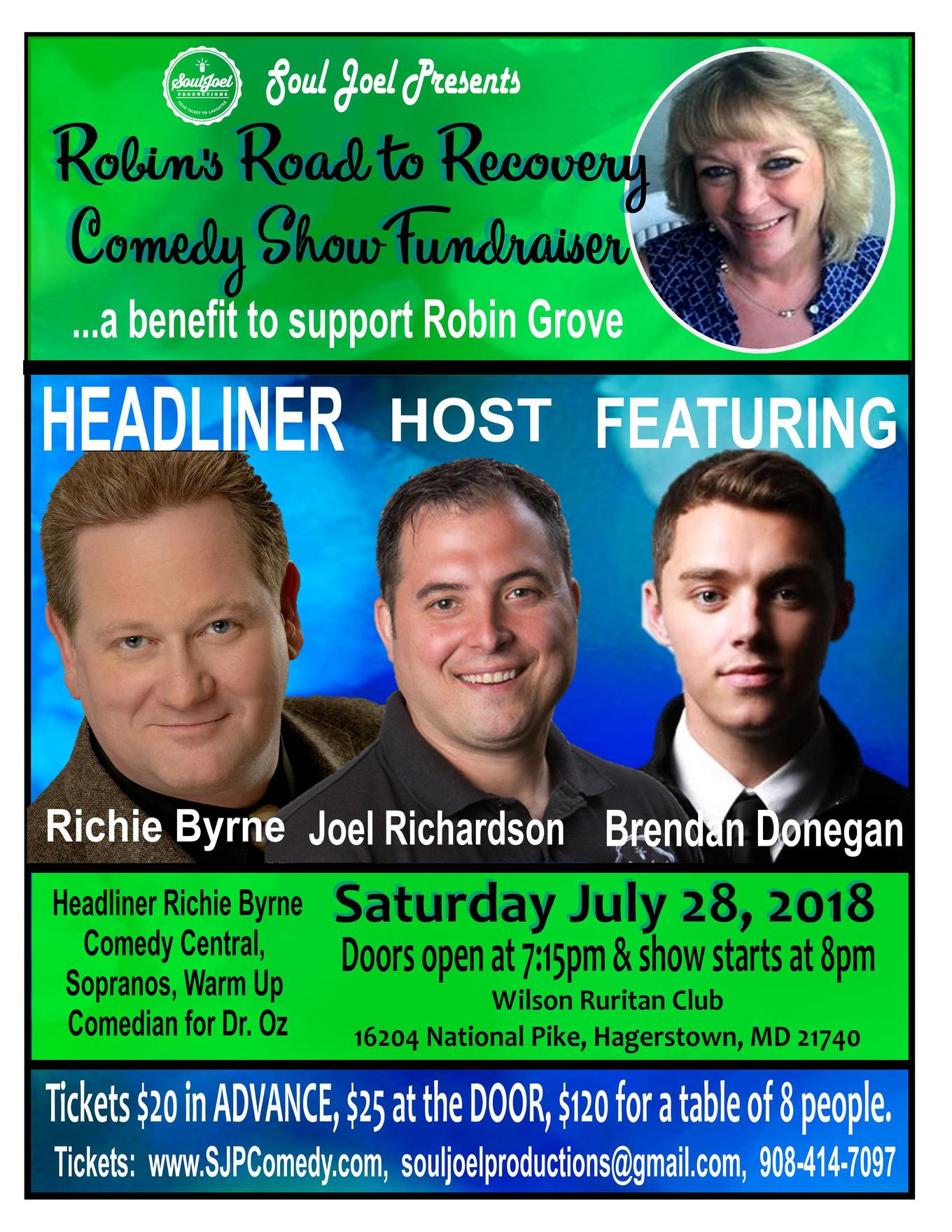 Robin's Road To Recovery Comedy Show Fundraiser - Tickets - Wilson's