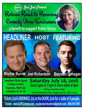 Robin's Road To Recovery Comedy Show Fundraiser