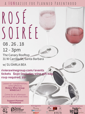 Rosé Soirée- a FUNraiser for Planned Parenthood with Riviera Wine Group