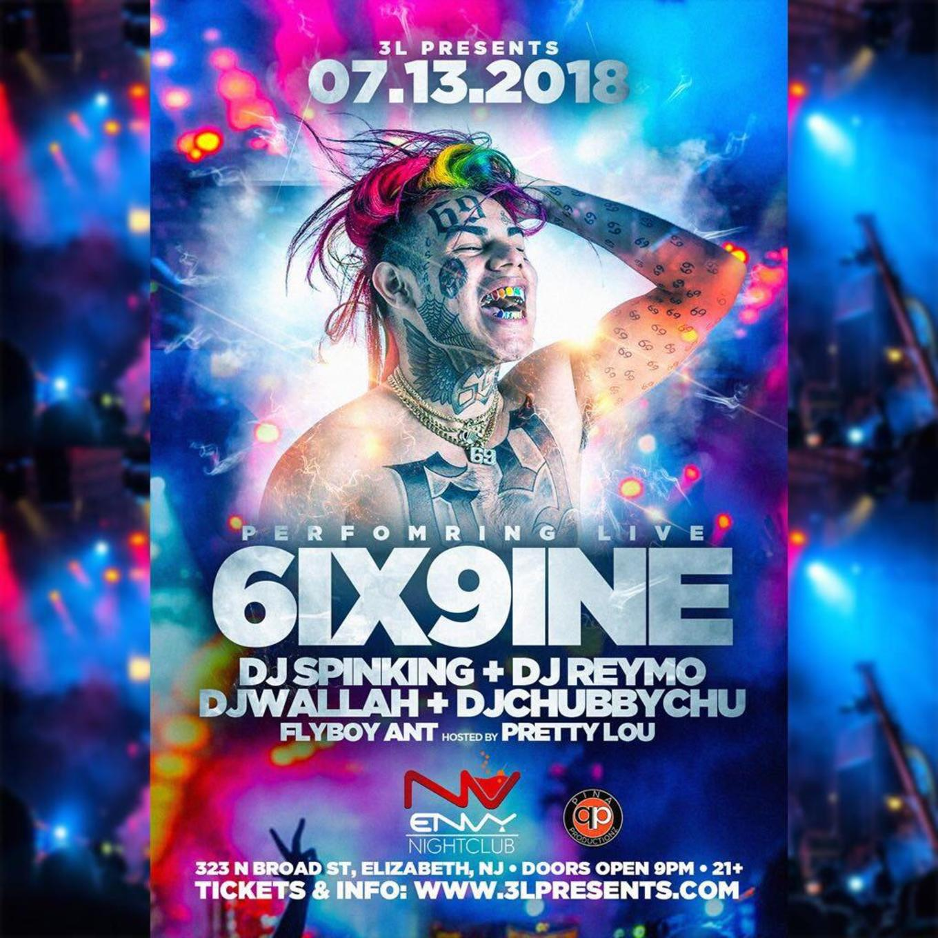 TEKASHI 6IX9INE Live At Club Envy