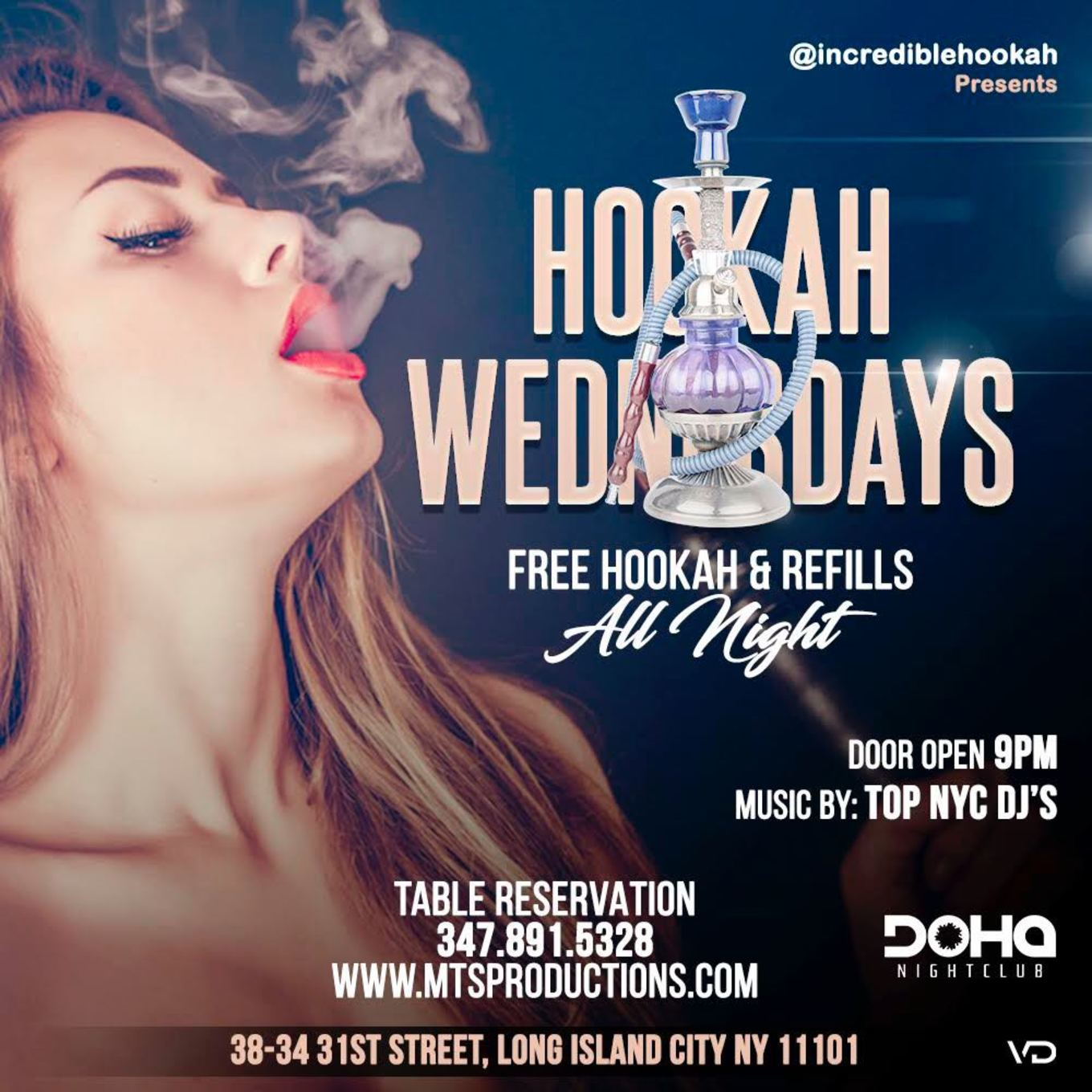 Doha Presents Free Hookah Wednesday S Tickets Doha