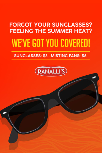 Ranalli's Sunglasses and Misting Fans!