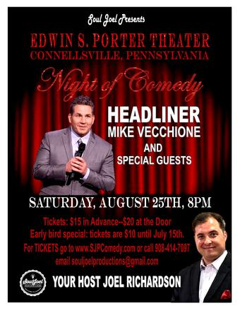 Mike Vecchione at the Porter Theater