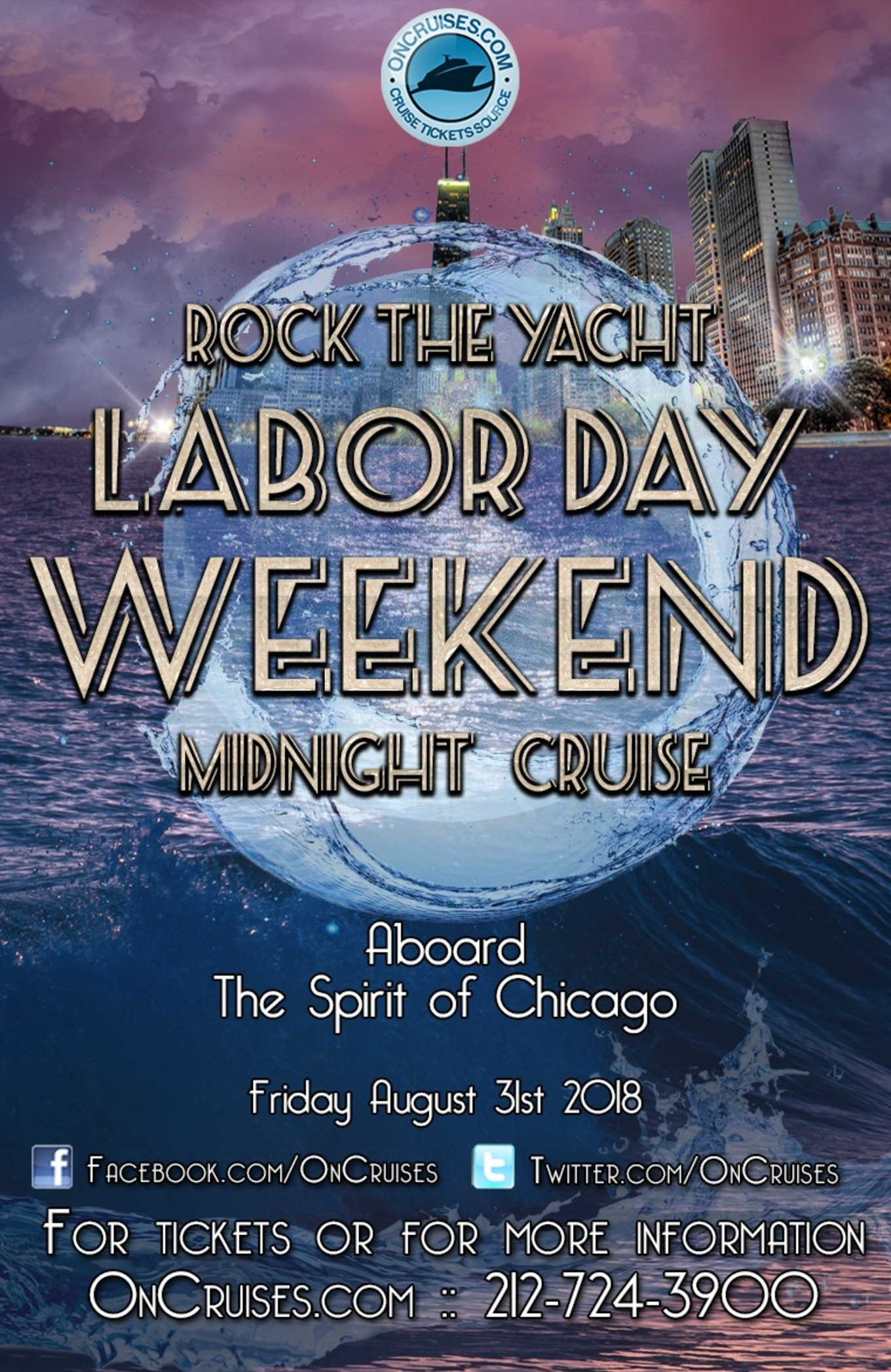 Rock The Yacht Labor Day Weekend All White Midnight Yacht Party