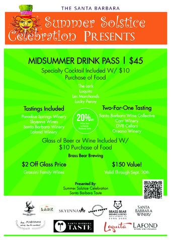 Summer Solstice Midsummer Drink Pass  |  $45