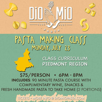 Dio Mio Monday School [Pasta Making - July]
