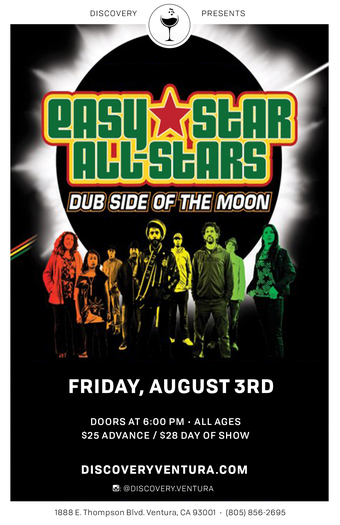 Easy Star - All Stars Dub Side of the Moon at Discovery Ventura