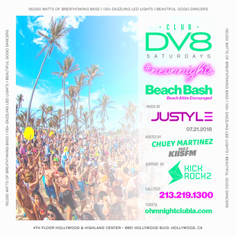 CLUB DV8's #NeonNights Beach Bash w/ Justyle