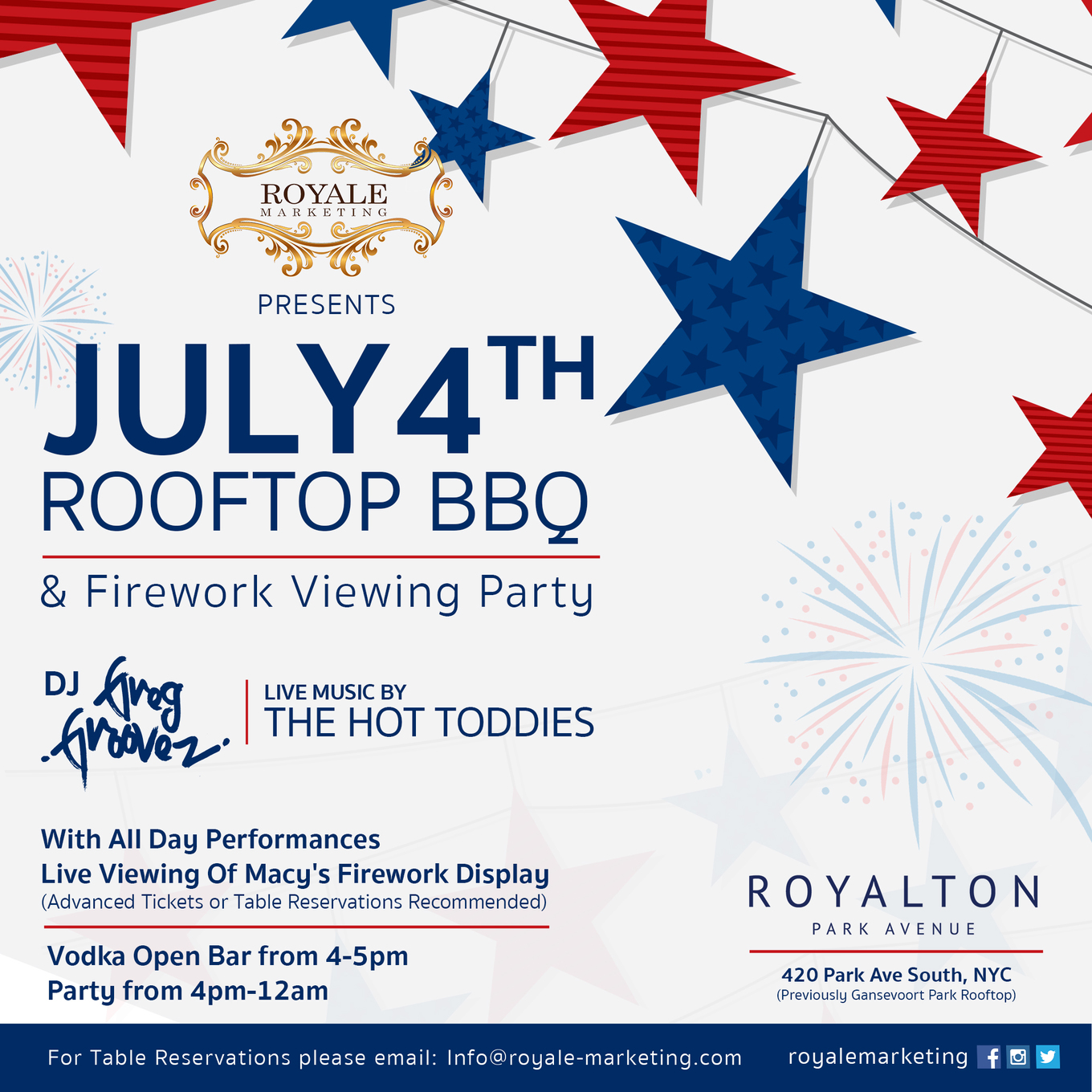 July Th Rooftop Macys Fireworks Viewing Party Tickets Royalton - Table reservations nyc