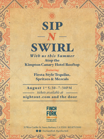 Sip N' Swirl FIESTA on the Rooftop at Canary!