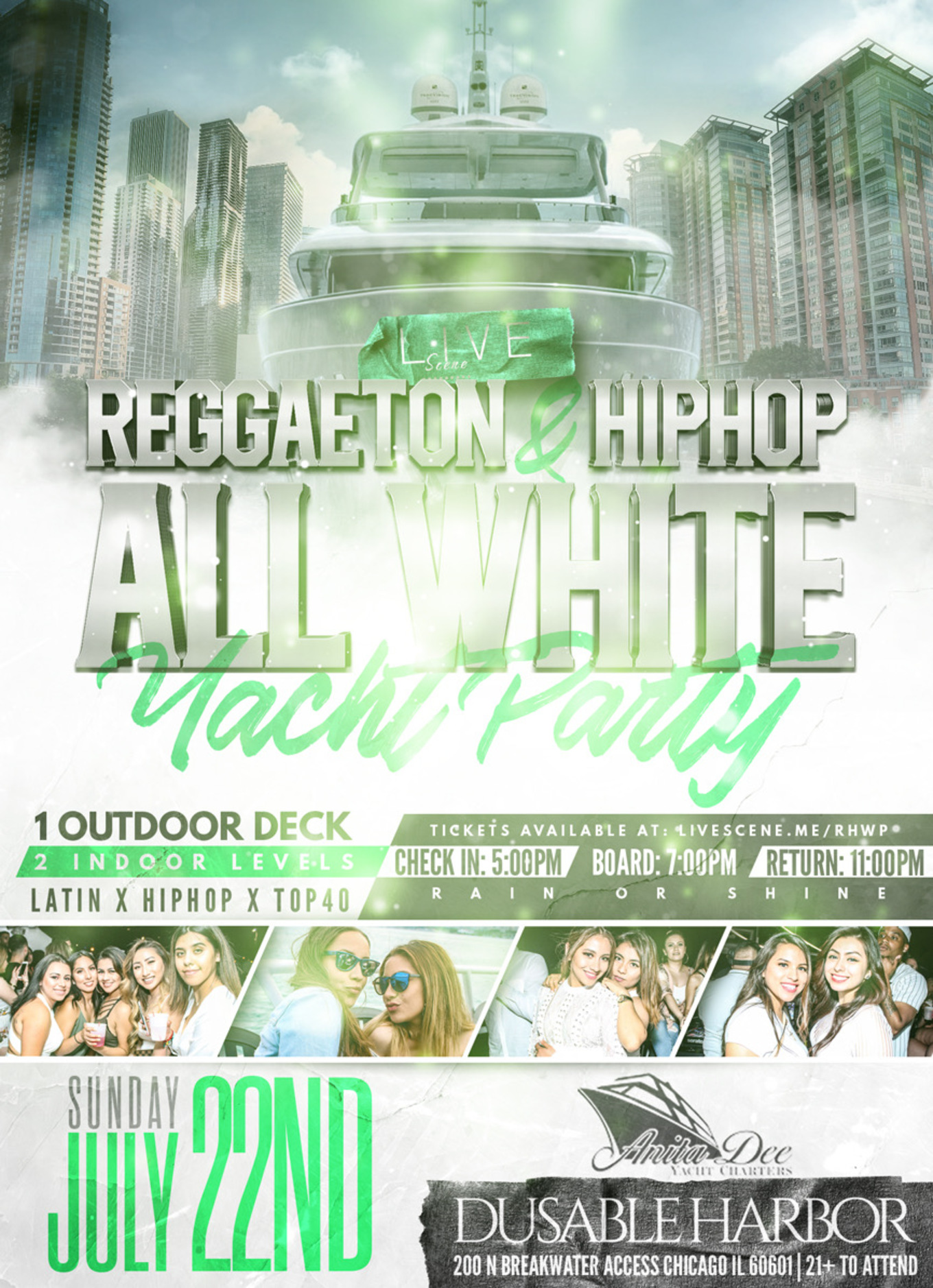 Reggaeton & HipHop White Yacht Party - Tickets - Anita Dee