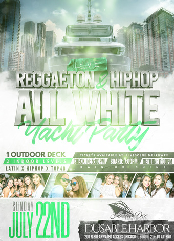 Reggaeton & HipHop White Yacht Party