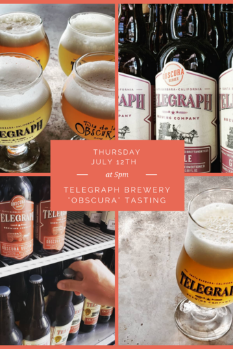 Telegraph Brewing Sour and Barrel-Aged Beer Tasting at Wine + Beer