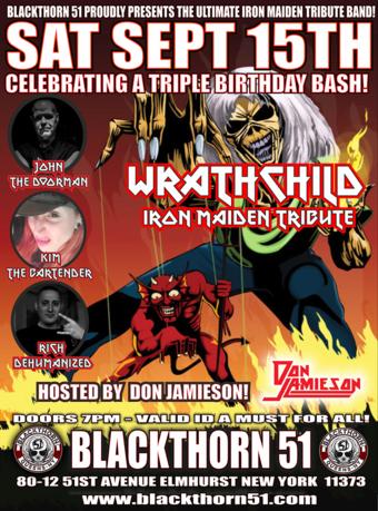Triple Birthday bash w/ Wrathchild (Iron maiden Tribute) + Don Jaimeson