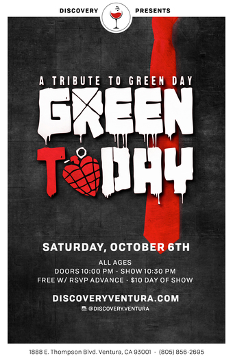 GREEN ToDAY - Tribute to GREEN DAY at Discovery Ventura