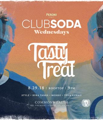 Club Soda with TASTY TREAT