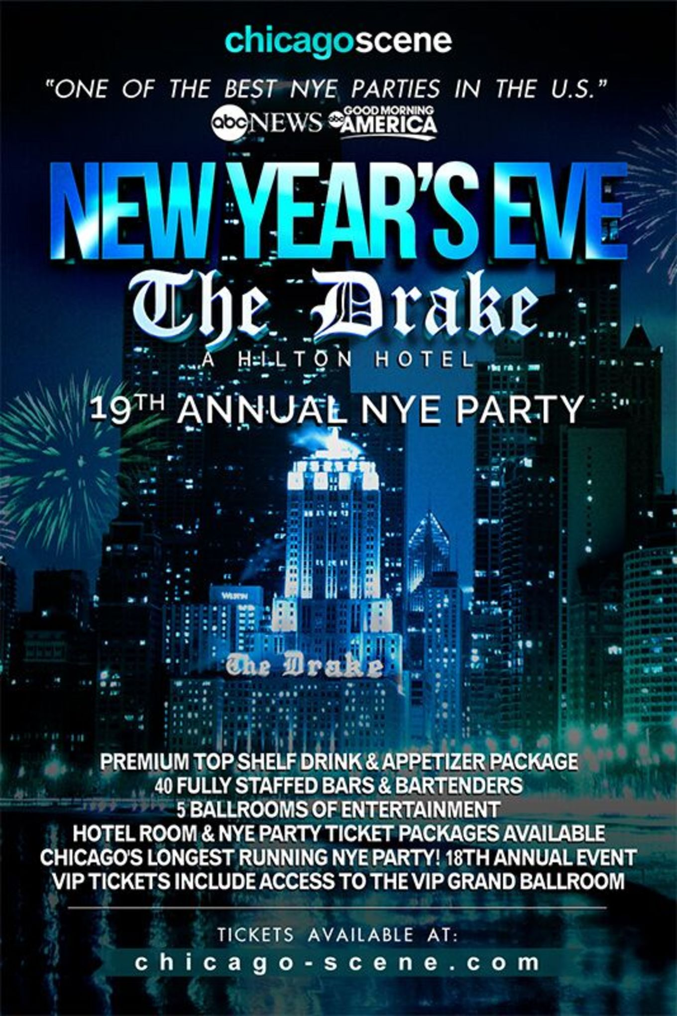 Chicago New Year S Eve Celebration At The Drake Hotel Tickets
